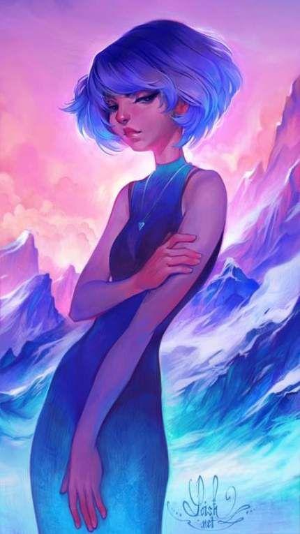 Hair purple girl art 45 Ideas