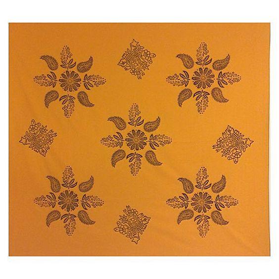 180x180cm el yapımı masa örtüsü-dekoratif kumaş %100 pamuk ve organik boya  handmade woodblock printing %100 cotton fabric and organic ink decorative cloth-tablecloth