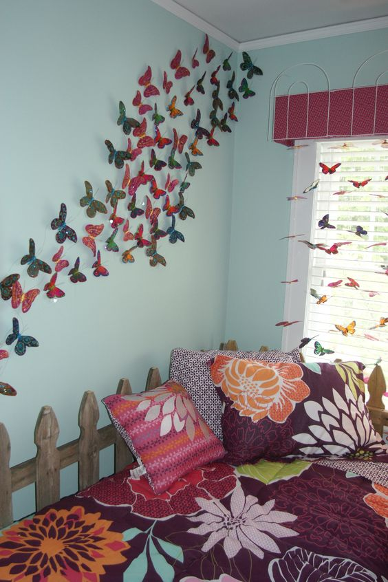 Bedroom themes bedrooms and butterflies on pinterest for Butterfly themed bedroom ideas