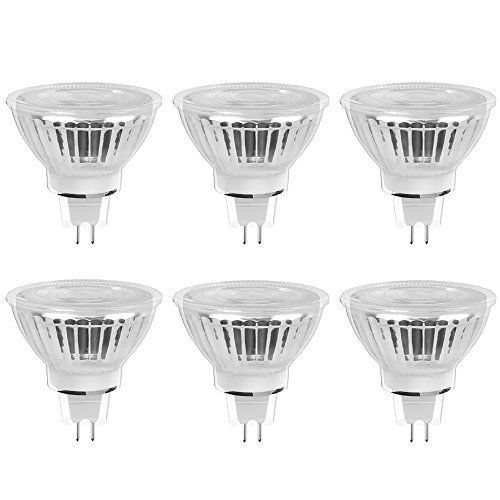 Ustellar Mr16 Led Bulbs Classic Glass 5w 50w Halogen Bulb Equivalent 450lm 6000k Daylight White 40a Beam Angl Mr16 Led Bulbs Recessed Lighting Led Light Bulbs