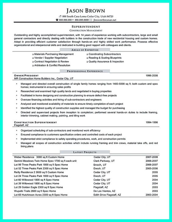 resume construction skills construction resume writing tips