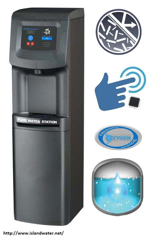 Commercial Bottleless Water Dispenser Services Island Water In 2020 Water Dispenser Water Coolers Pure Products