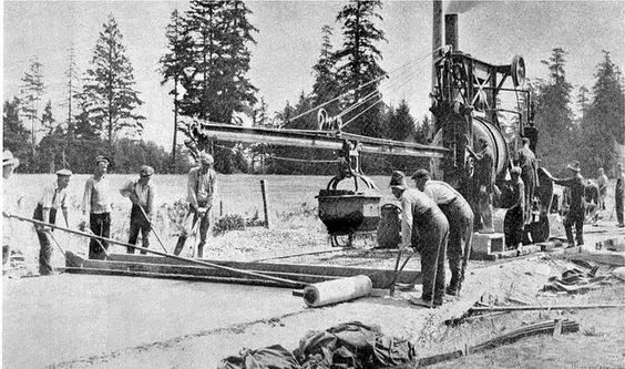 This Throwback Thursday picture takes you back to the construction of the Island Highway, circa 1922.