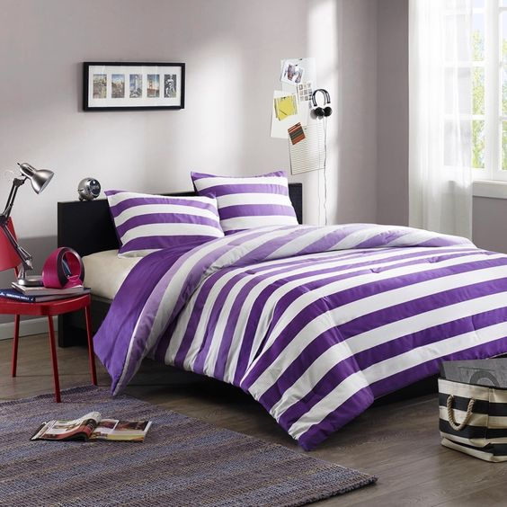 Funky Teen Bedding  Purple Bedspreads For Teenage Girls Funky Purple -6113
