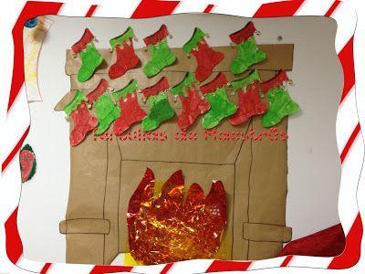 Decoración Navideña con Calcetines pintados: