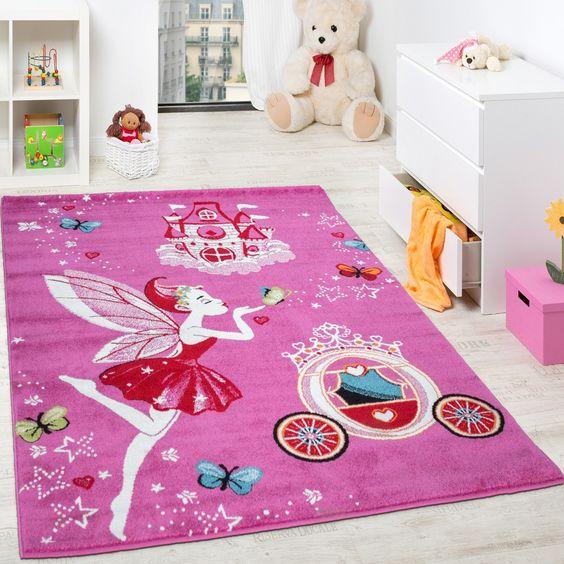 kinderteppich pink zauberfee prinzessin kinder teppiche für, Hause ideen
