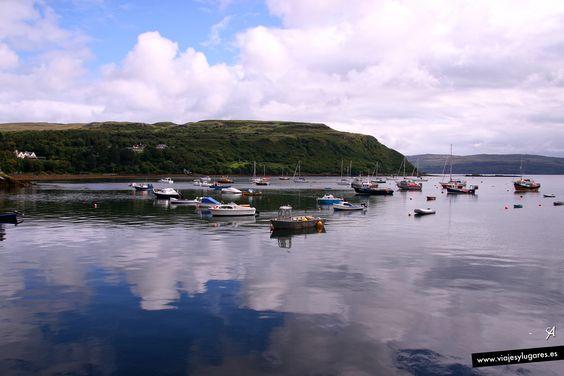 Reflejos en... Portree, Isla de Skye, Escocia.