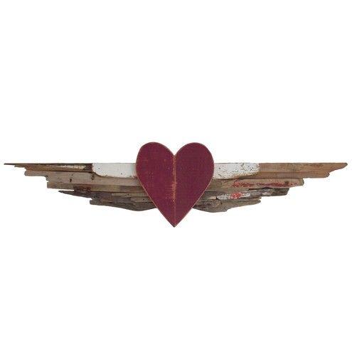 Driftwood Angel Wings Love Heart