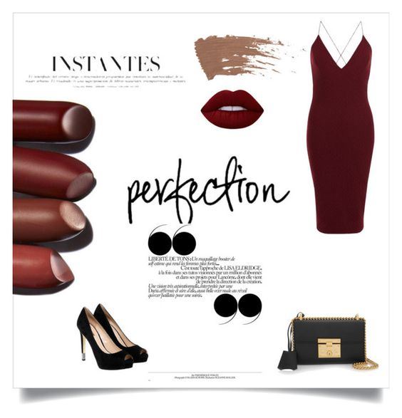 """""""Untitled #28"""" by runwaay ❤ liked on Polyvore featuring AX Paris, Lime Crime, GUESS, Gucci and Hansen"""