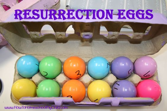 Resurrection Eggs w/ Bible verses. I just saw these at the Christian Bookstore and wanted to get them but of course they were a bit expensive!!