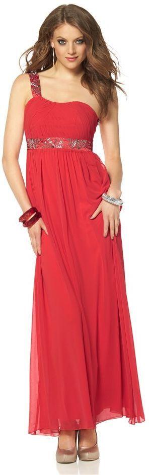 Kleid mit One Shoulder Look - Tolles rotes Kleid von LAURA SCOTT EVENING. Mit diesem Kleid legst du einen selbstbewussten und zauberhaften Auftritt hin! - ab 145,99€
