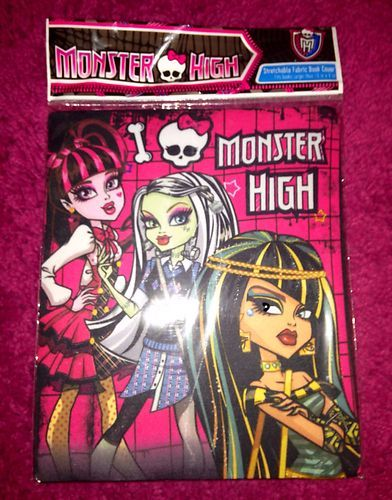 High School Book Cover : Monster high school supplies back to book cover