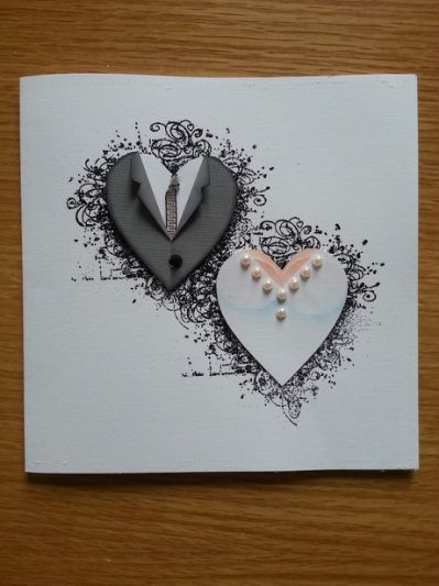 Beautiful Handmade Card All Wedding Cards Handmade Wedding Anniversary Cards Wedding Cards