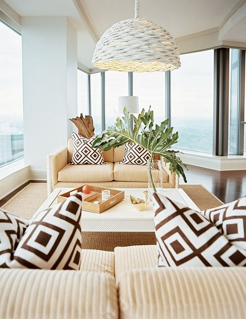 "How beautiful is this? It's like a beach house in the sky! Who says you can only do ""industrial chic"" in a condo?:"