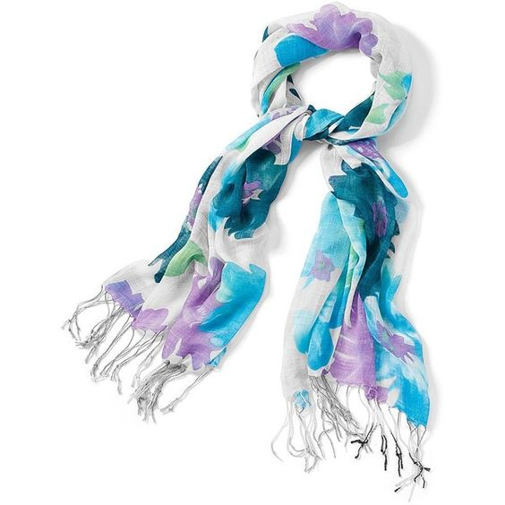 Clearance! Color Craze®Tropical Floral Gauze Scarf (64 SEK) ❤ liked on Polyvore featuring accessories, scarves, juniors, women, fringed shawls, gauze scarves, lightweight summer scarves, patterned scarves and summer scarves