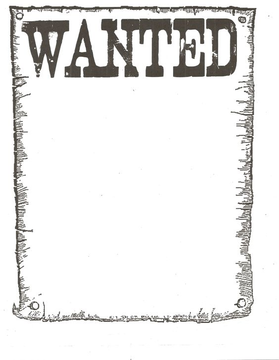 Wanted Poster for western theme School stuff Pinterest - printable wanted posters