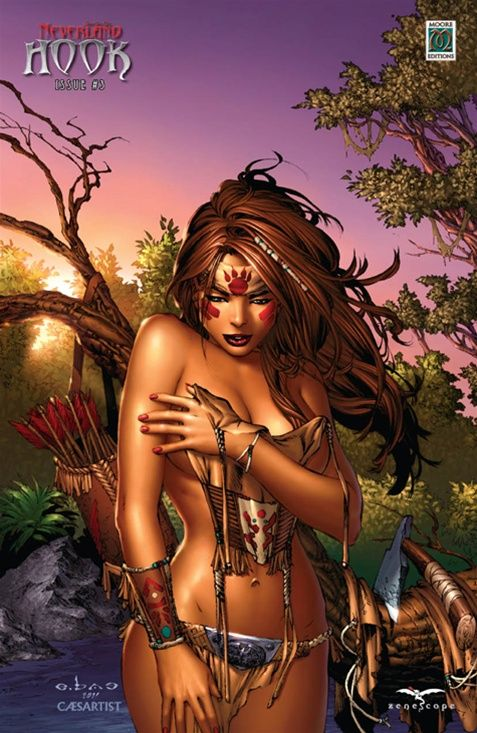 Grimm Fairy Tales Presents: Neverland - Hook #3 Cover ? Limited 250 Moore Editions Exclusive Variant.....Tigerlily!! (Cover Artist: Eric Basaldua)