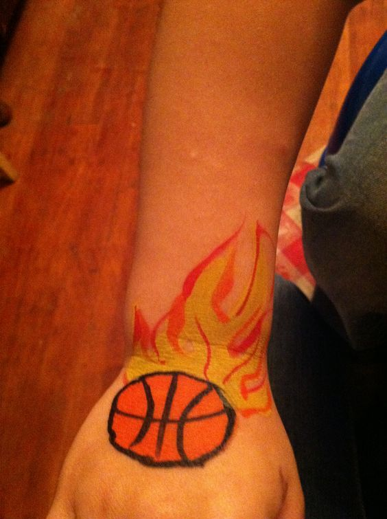 Basketball face painting