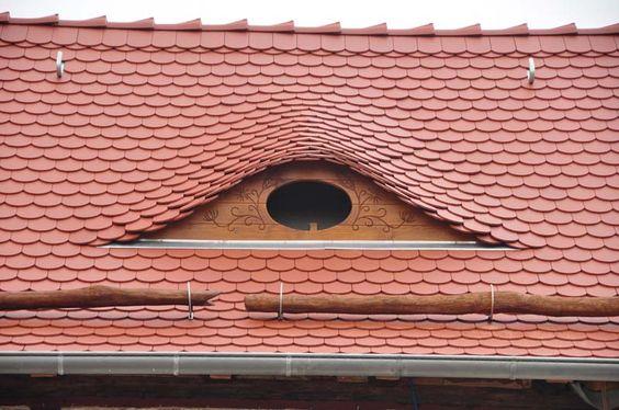 Fledermausgaube Mit Biberschwanz Deckung Gaube Anbau Haus