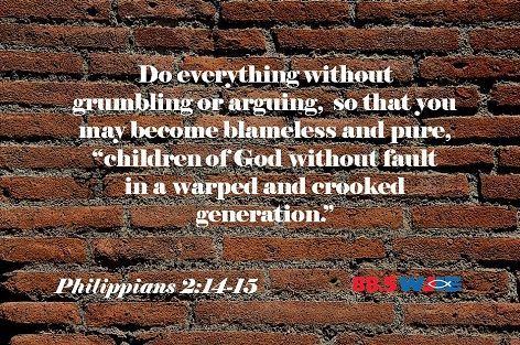 #WJIEWord4Day is from Philippians 2:14-15 for Wednesday, July 8, 2015.