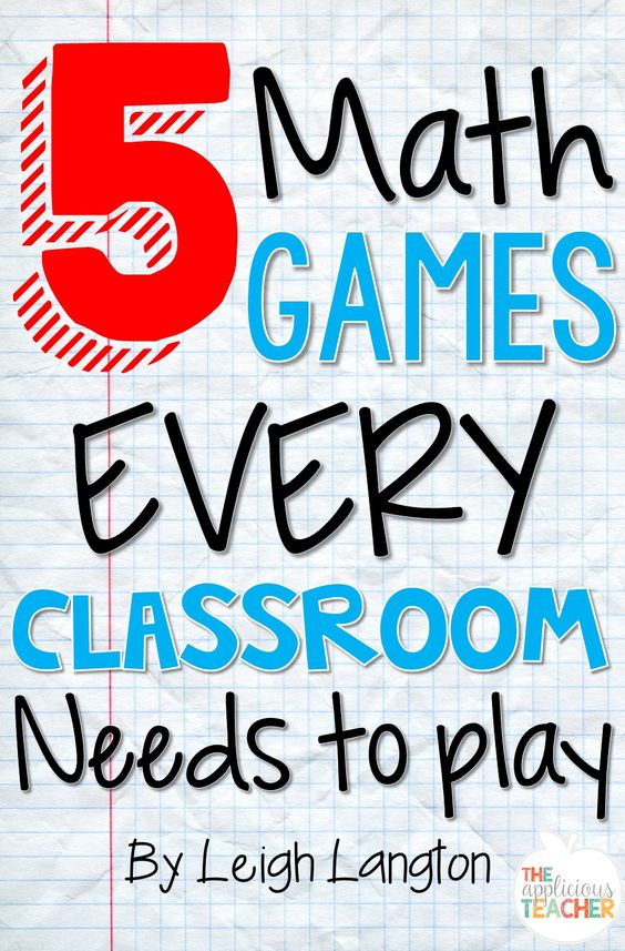 """5 Math games that EVERY classroom needs to play! These are great suggestions for games involving supplies I already have in my classroom. Love the one called """"Back to Back"""". Perfect review so all sorts of games!"""