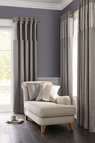 Buy Luxury Pleated Band Eyelet Curtains from the Next UK online ...