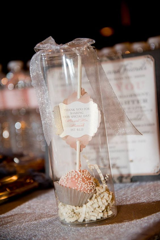Beautiful Cake Pop Wedding Favors - Contact us today for a quote!
