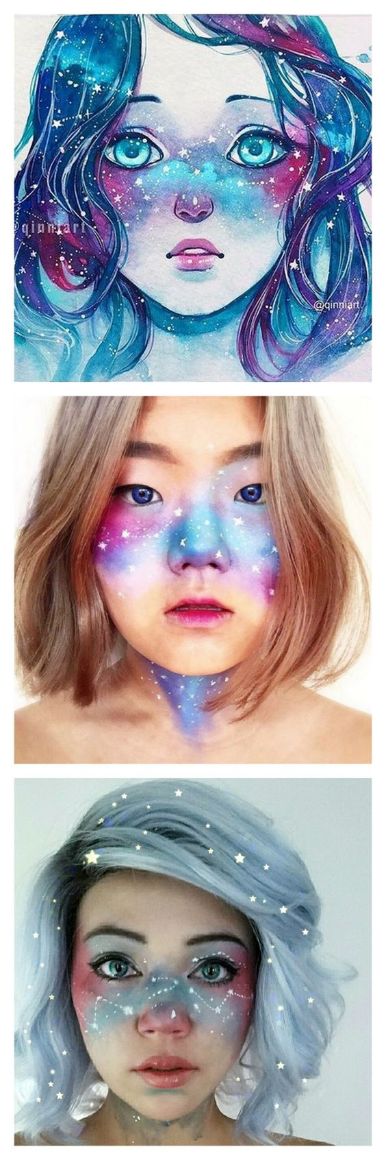 DIY Inspiration: Galaxy Freckles Trend Started by Artist ...