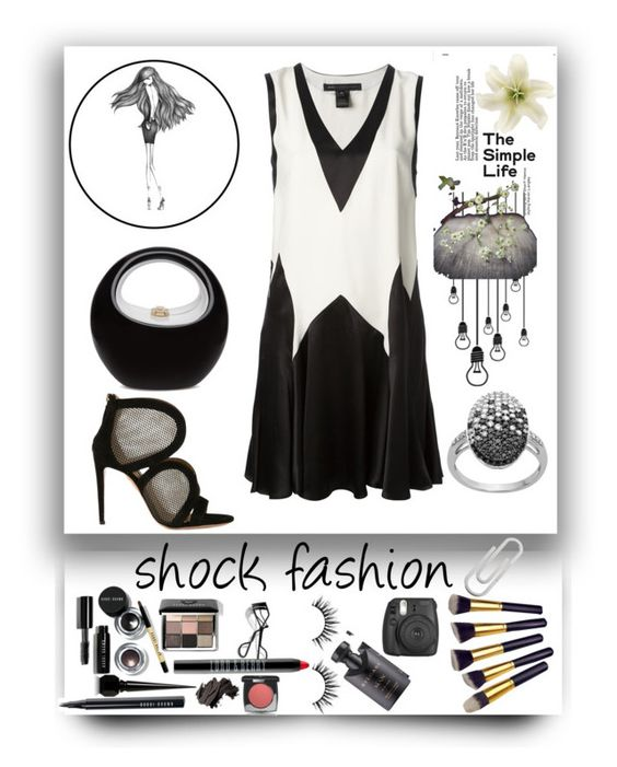 """""""Shock Fashion"""" by paulette833 ❤ liked on Polyvore featuring moda, Percy & Reed, Marc by Marc Jacobs, Aquazzura, Bobbi Brown Cosmetics, Chanel, Christian Louboutin, Bulgari, Lord & Berry y Clips"""