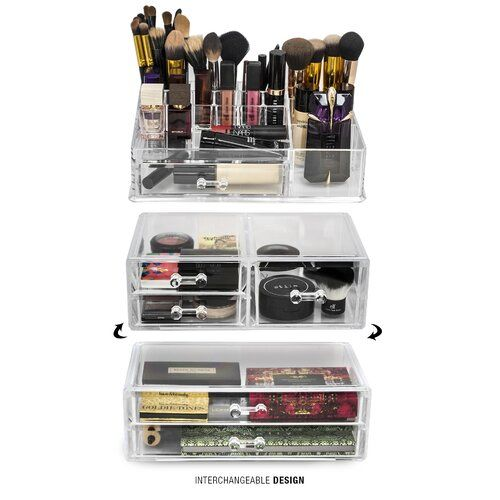 Pin On Organizing Ideas, Makeup Storage In Specially Designed Furniture