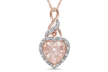 Morganite and Diamond Rose Gold Pendant from Ice.com - Just beautiful. I am quite sure I need this.