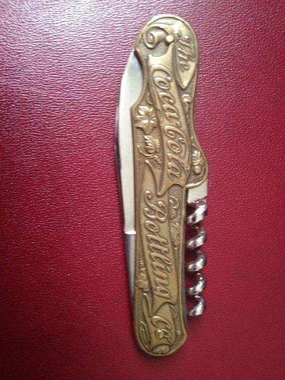 brass coca cola bottling co pocket knife bottle opener coca cola knives pinterest brass. Black Bedroom Furniture Sets. Home Design Ideas