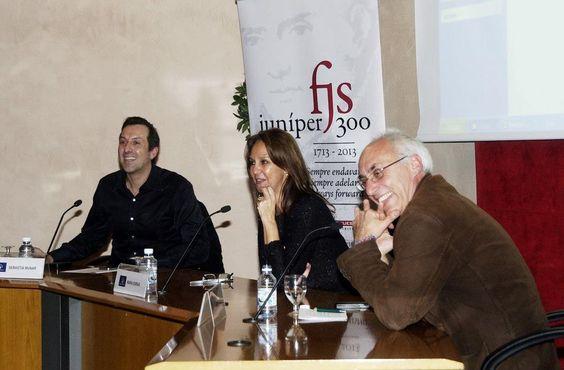 María Dueñas en el Club Diario de Mallorca con Sebastià Munar y Cesc Mulet.  #juniper300 #latinoheritage #majorca2013 #marcaespaña