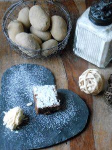 Kartoffelbrownie mit Eis by kartofelwerkstatt.com