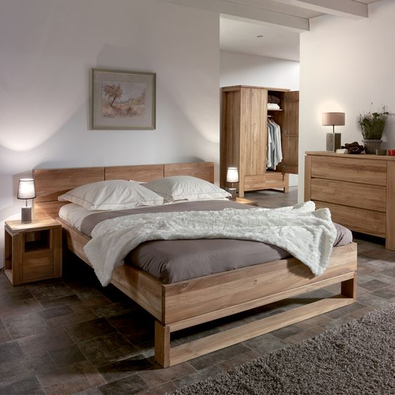 chambre a coucher scandinave avec des id es. Black Bedroom Furniture Sets. Home Design Ideas