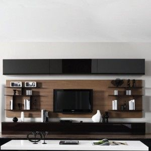 meuble mural biblioth que achat vente meubles muraux biblioth ques ensemble mural marron. Black Bedroom Furniture Sets. Home Design Ideas
