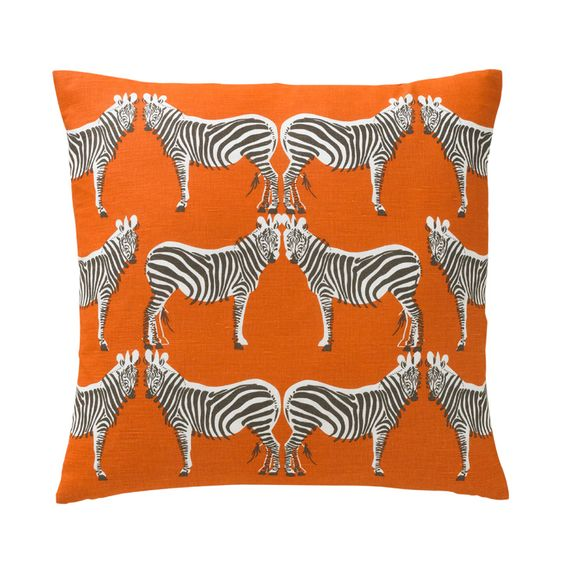 Zebra Throw Pillow in Tangerine  Doesn't match anything I have but love it!