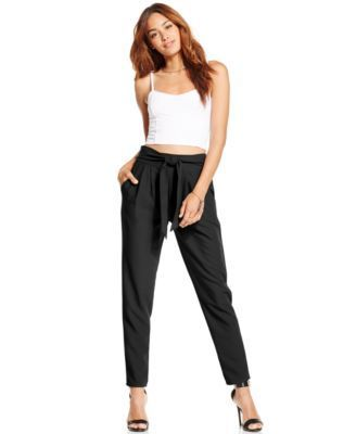 Material Girl Juniors' Tie-Front Soft Pants
