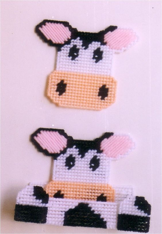 everything plastic canvas | Plastic Canvas-Cow Coaster Set Plastic-Canvas-Kits.Com