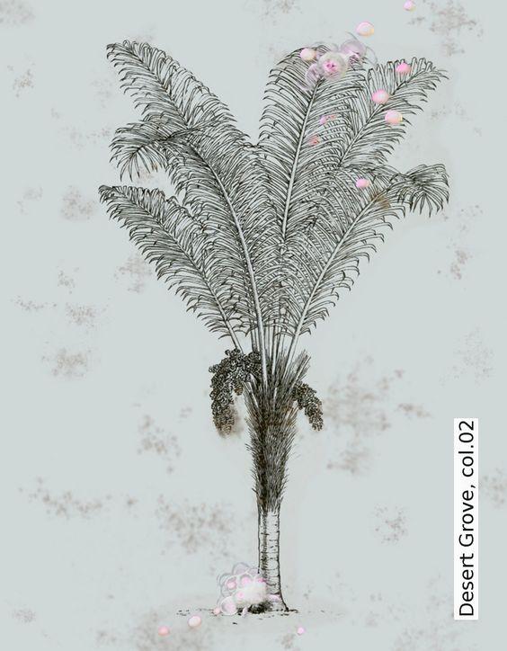 Tapete: Desert Grove, col.02 - TapetenAgentur  Selected Designtapeten von Elli Popp http://wzorywidze.pl/shop/producer/show/id/38