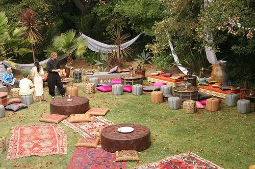 Garden Lounging!  Moroccan garden party by www.E-Mosaik.com, via Flickr