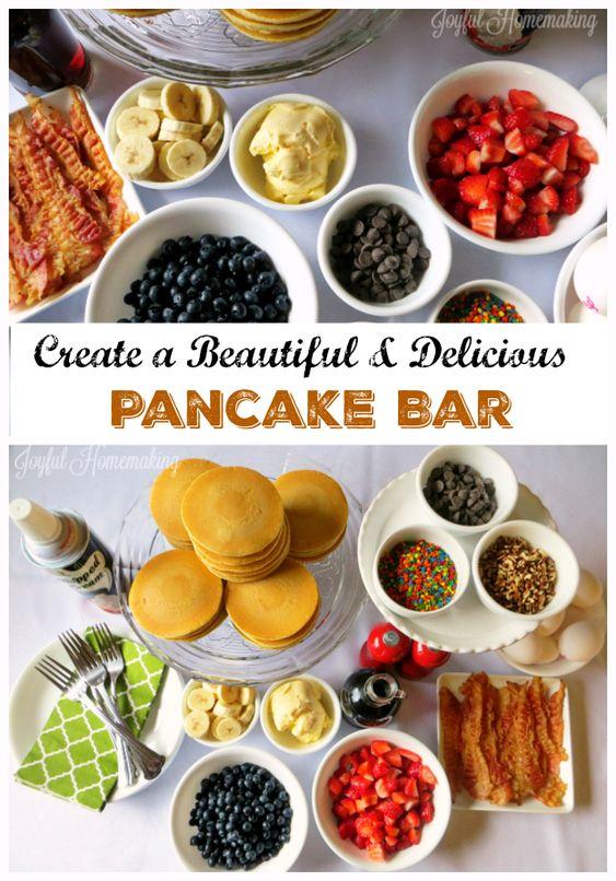 Create a beautiful, fun and delicious Pancake Bar!