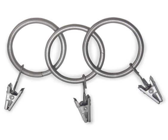 Living Colors Pewter Clip Rings 14 Pack Big Lots In 2020 Curtains With Rings Curtain Rods Big Lots