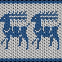 Traditionel deer motif on Knitted for you's motif collection. Create your own motif you too!