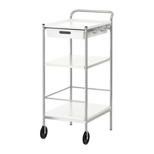 IKEA - BYGEL, Carrinho, A parte de cima do carrinho é reversível e pode ser usada como tabuleiro.