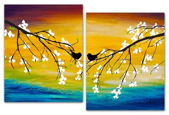 Painting Soiree (Couples Soiree) - September 20 - Love Birds