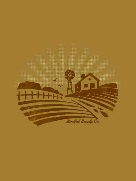 Mindful Supply Co Homestead T-Shirt (Mens), Made in USA