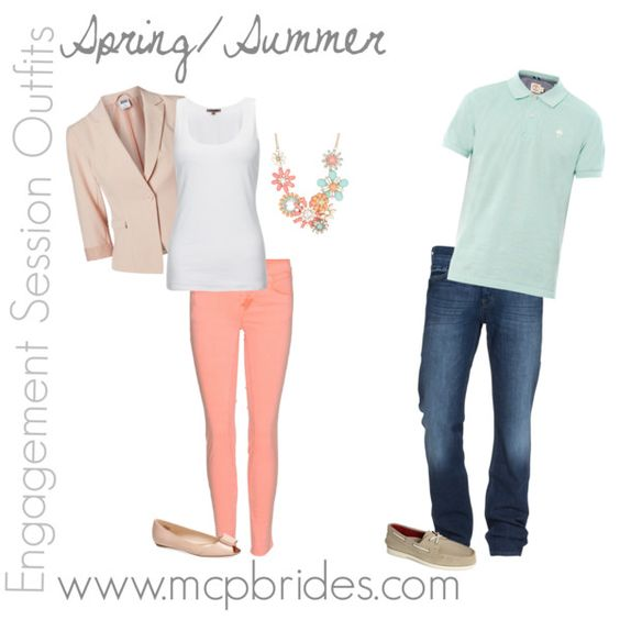Spring/Summer Engagement Session Outfit Ideas Peach and Mint mcpbrides.com Elizabethtown, KY