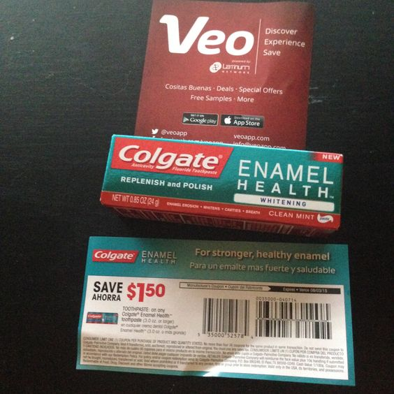 free sample of Colgate toothpaste from Veo (app) #freestuff #freebies #samples #free