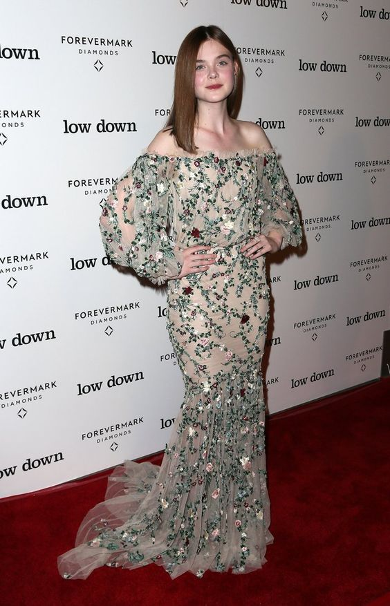 Pin for Later: Baby Bumps Are Taking Over the Red Carpet Elle Fanning While Elle opted to wear this Marchesa gown to the premiere of Lowdown, we think it's stunning enough to have worked for an award show as well.